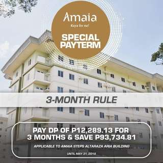 Discounted Condo in Altaraza San Jose Del Monte Bulacan by Ayala Land