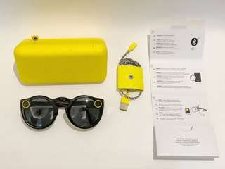 Snapchat spectacles (sunglasses with built in camera)