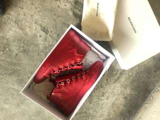 Balenciaga red arena hi-top