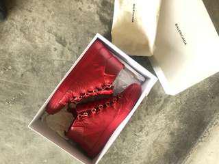 Balenciaga red arena hi-top