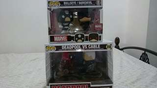 Funko POP Deadpool vs Cable / Daredevil vs Bullseye MCC Exclusive