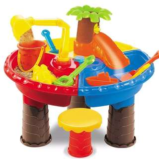 *In Stock* BN Kids Round Beach Island Kinetic Sand and Water Slushy Snow Play Slide Table