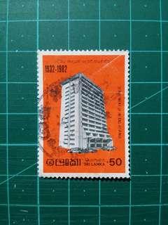 [贈品]1982 斯里蘭卡 稅務局五十週年紀念 舊票一套