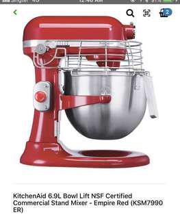 Kitchenaid 6.9litre NSF certified commercial stand mixer