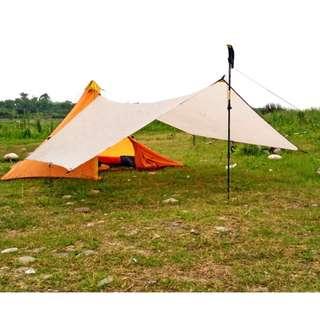 全新 戶外天幕 露營 野餐 帳幕 防水 防曬 超通風 超輕 (NEW) Canopy Camping