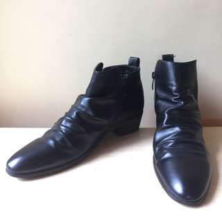PiDePiEr black leather boots formal shoes