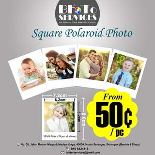 Square Polaroid Photos