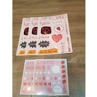 Kim Sung Kyu's stickers