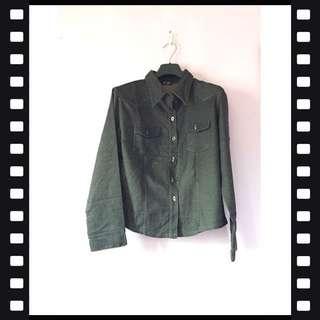 Black Jacket / black long sleeve polo