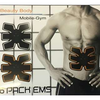 909. Beauty Body Mobile Gym 6 Pack EMS Abdominal Muscle Stickers
