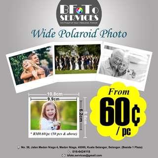 Wide Polaroid Photos
