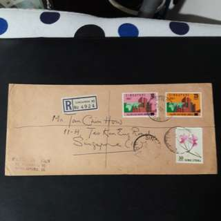Singapore  Stamps cover