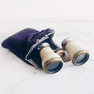 AntiqueVictorian  Opera Binoculars w/ Soft Case