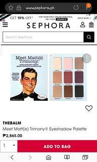 The balm meet matte(e) trimony palette