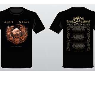 Arch Enemy - WIll To Power CD + Tour Tshirt Bundle Left 1 L/ 1 XL size