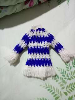 Barbie blue knitted sweat shirt