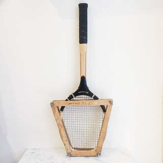 Vintage Wooden Tennis Racket with Press - Dunlop