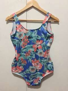 One piece Low Back Floral Swimsuit