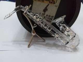 Swarovski Crystal Saxophone with Stand