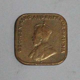 Duit Syiling Lama Old Coin 1919 hingga 1953 One 1 Cent