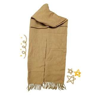 🚚 棕色流蘇圍巾