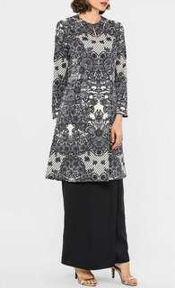 Melinda Looi PARIS Baju Kurung Pahang Set with Printed Lace in Black