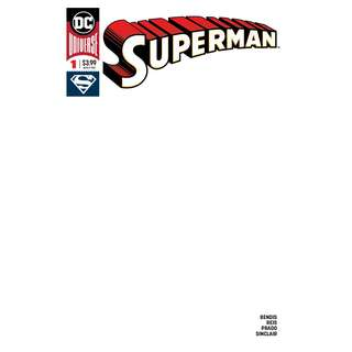 Superman #1 blank variant