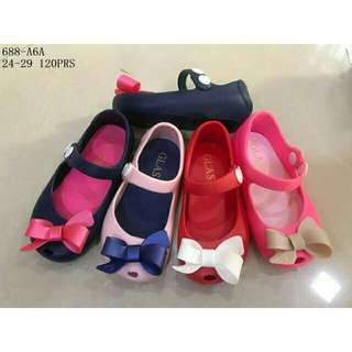 Jelly shoes ribbon  glass  size 27-29