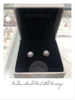 Pandora Grand Pearl Stud Earrings