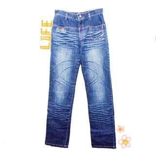 🚚 少女童趣刺繡牛仔褲