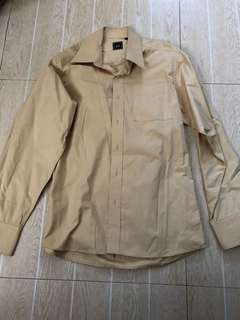 Long sleeve Yellow Polo (small) 6/10 quality