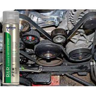 Stop Fan Belt Squeaking Noise using TOYO Silicone Lubricant R&R Rubber Release Agent