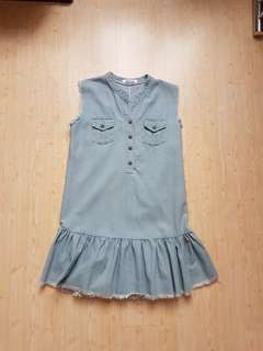 Chocochips Ginza jeans flare light blue dress