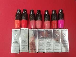Lancome matte shaker liquid lipstick second skin matte finish wear and comfort 6.2ml