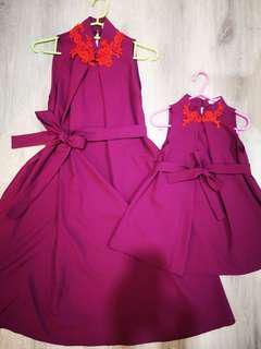 Mixon Minis Amethyst Purple Mother & Daughter Dress