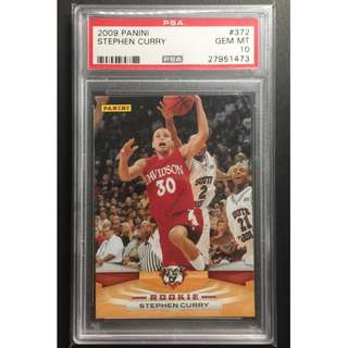 Stephen Curry Rookie Card 2009 GS Warriors Graded by PSA