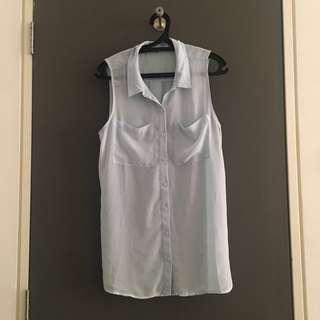[Size L] H&M Blue Sleeveless Top
