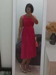 Pink Midi Dress #maudecay
