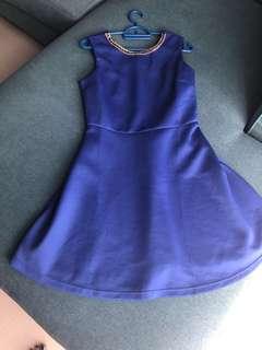 Blue colour dress