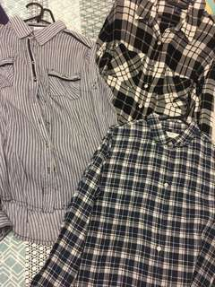 Flannel outerwears