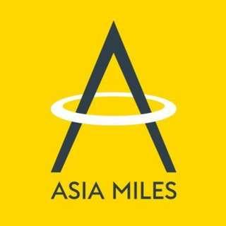 |Asia Miles 亞洲萬里通|入分|有大量里數。0.12/里。鐵價不二|foi3ngntl2tbjopk