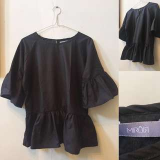 Never worn black messy top by miroir