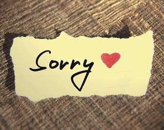 Apologies for MIA