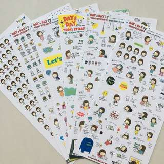 🚚 Day & Day Korean Sticker Set
