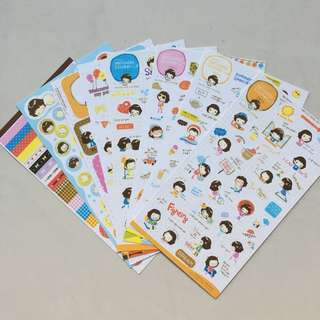 🚚 Helloday Korean Sticker Set