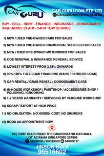 NEW / USED PRE-OWNED CARS, COMMERCIAL VEHICLES, MOTORBIKES FOR SALES