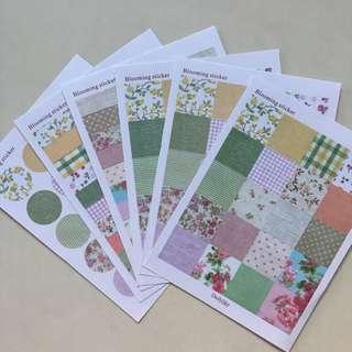 🚚 Blooming Sticker Set