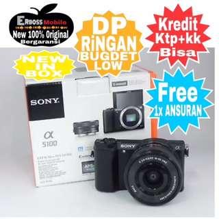 Sony Alpha a5100 Kit 16-50mm Resmi Cash/kredit Dp600rb ditoko Call/wa;081905288895