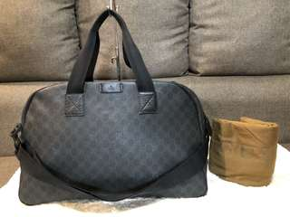 Authentic Gucci Two Way Travel Bag With Dustbag