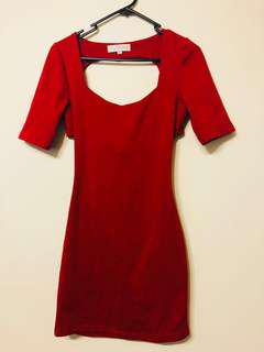 Showpo red dress